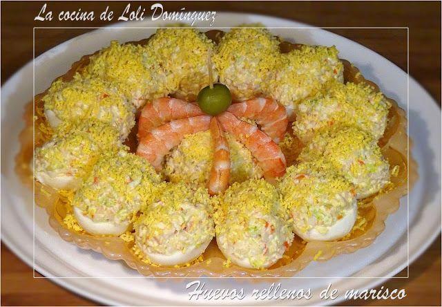 La cocina de Loli Domínguez: Huevos rellenos de marisco