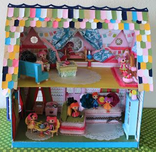 Lala Chez Nuit (Lala Night House In French) #dollhouse #Lalaloopsy