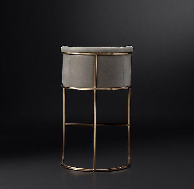 High Bar Stool Chairs Resin Adirondack Home Depot Wexler Barrelback Leather | Stools / Seating Pinterest Stools, And