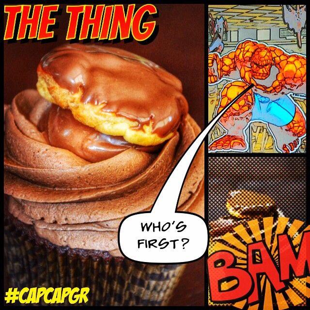Μεταμορφώσαμε το πιο δυνατό πλάσμα σε ένα cupcake γεμάτο γεύσεις!!! Σοκολάτα, μπανάνα και πραλίνα φουντουκιού!!!