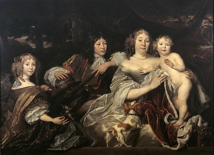 1688 Abraham Lambertsz. van den Tempel (Dutch painter, c 1622-1672) Princess of the House of Orange with her children