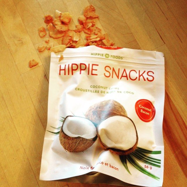 Enjoying Hippie Snacks' coconut bacon chips. These won't last long! #hippiesnacks #trynatural