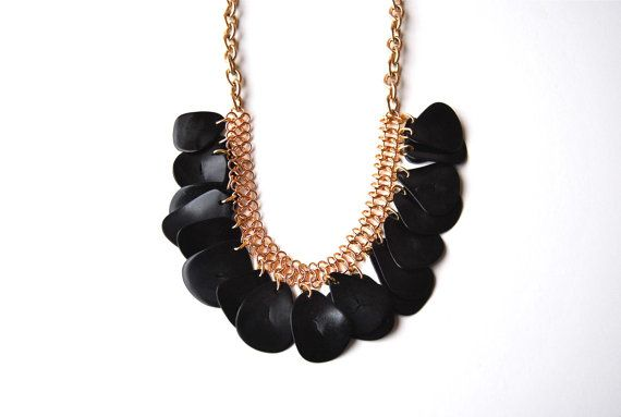 Back to Black statement necklace by Very Valero  by VeryValero $45