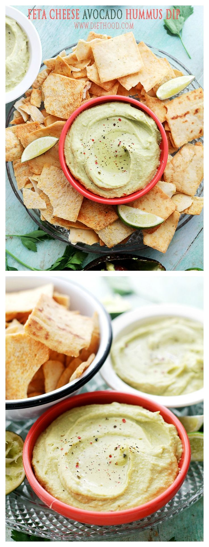 Feta Cheese and Avocado Hummus Dip