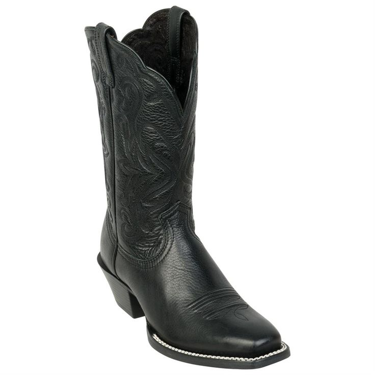 Women's Ariat® 11 inch Legend Western Boots, Black Deertan ...