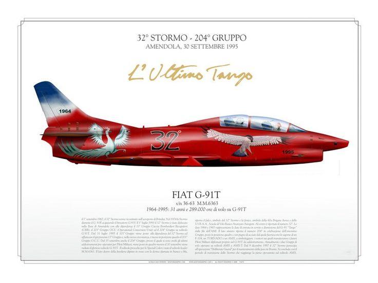 """ITALIAN AIR FORCE 32° Stormo, 204° Gruppo Amendola, 30 settembre 1995 """"L'ultimo Tango: 1964-1995.31 anni e 289.000 ore di volo su G-91T"""""""