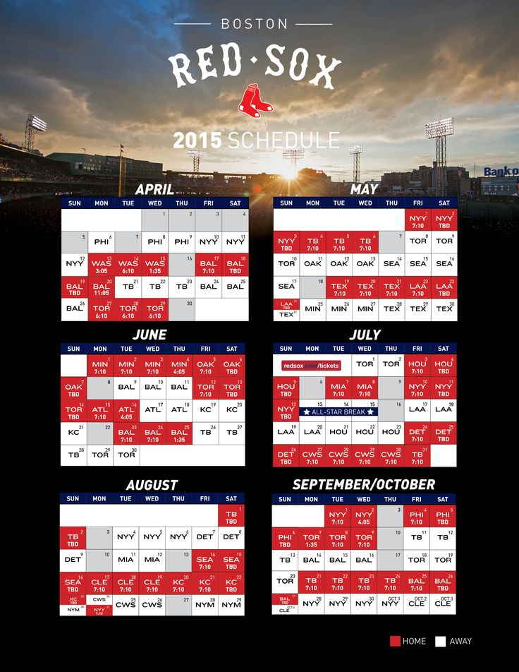 red sox schedule 2015 - Google Search