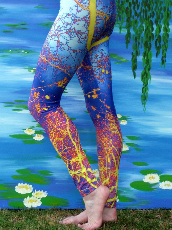 pattern leggings yoga leggings  yoga pants with blue  hot