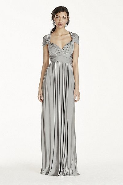 Coming Soon! - Versa Convertible Long Jersey Dress Style W10502 In Store $199.95