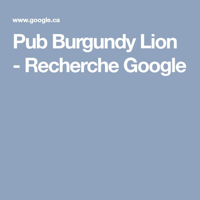 Pub Burgundy Lion - Recherche Google