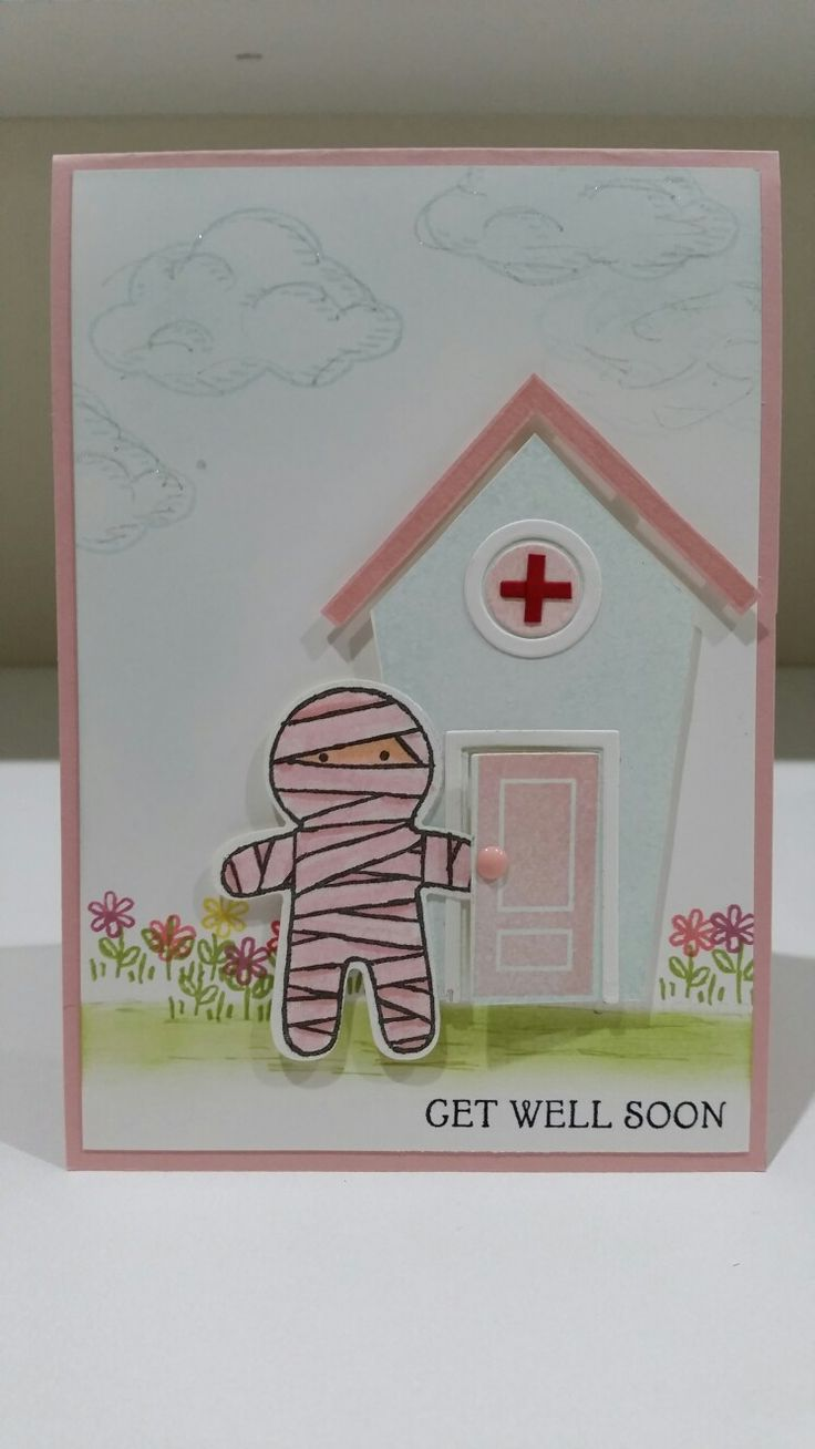 Cookie cutter Halloween by Stampin up. Get well soon