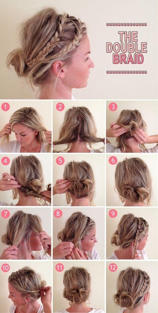 Double Braid messy bun - by Stephanie L Burr