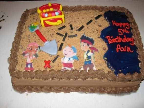 Idea for William's birthday cake! He loves Jake and The Neverland Pirates!