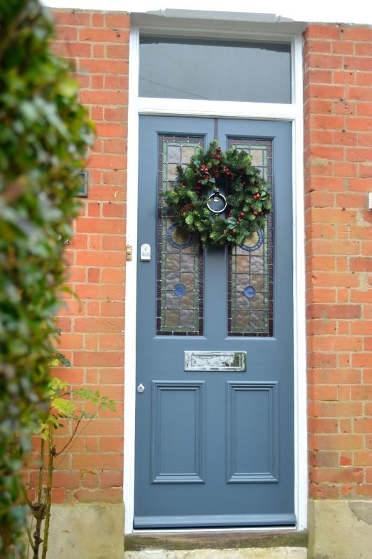 Victorian Door With Leaded Glass Fitted In North London | External Doors | Victorian Doors