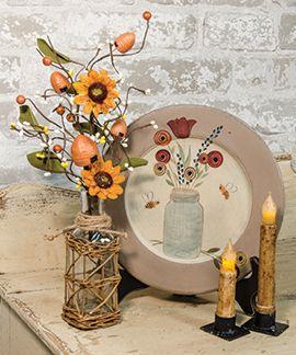 Mason Jar Bee Plate | KP Creek Gifts