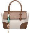 Bolsa Satchel Francesca Off-White