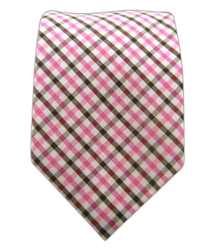 Cross Check - Pink/Brown (Cotton) - Cross Check - Pink/Brown (Cotton) Ties