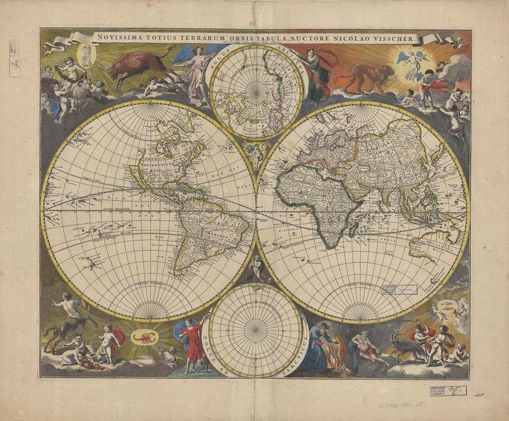 54 best free map images images on pinterest vintage maps free double hemisphere world map 1690 via bibliodyssey gumiabroncs Choice Image