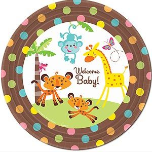537 - Fisher Price Plates. Pack of 8 27cm Plate Fisher Price Baby Paper plate. - Pack of 8
