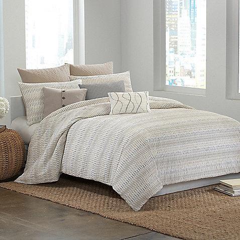 modern master bedroom with threshold seersucker duvet cover set | 23 best images about Bedding on Pinterest | Yellow bedding ...