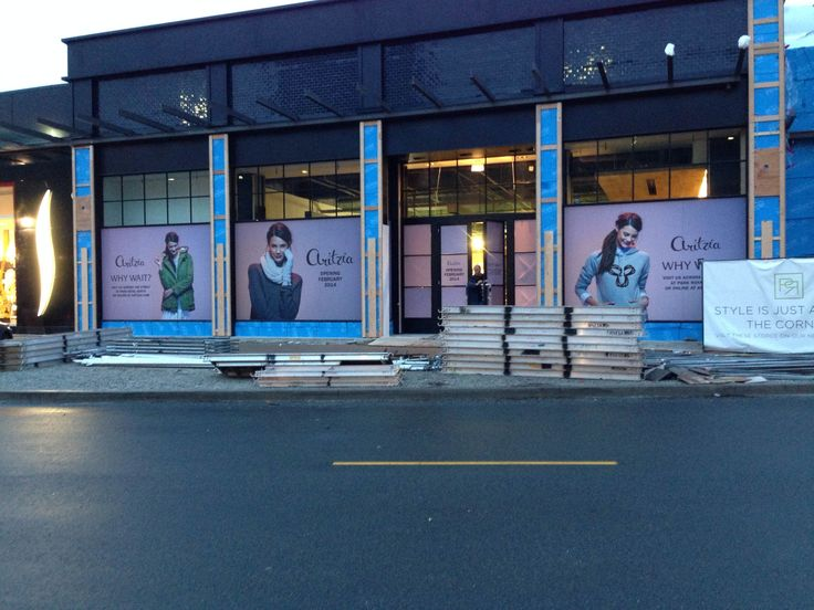 Digitally printed removable vinyl with matte laminate produced for Aritzia in Park Royal Shopping Centre by FASTSIGNS Vancouver. www.fastsigns.com/653 #fastsigns
