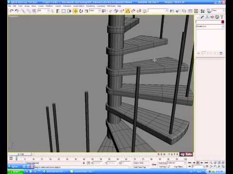 Best Model A Modern Spiral Staircase In 3Ds Max Spiral 400 x 300