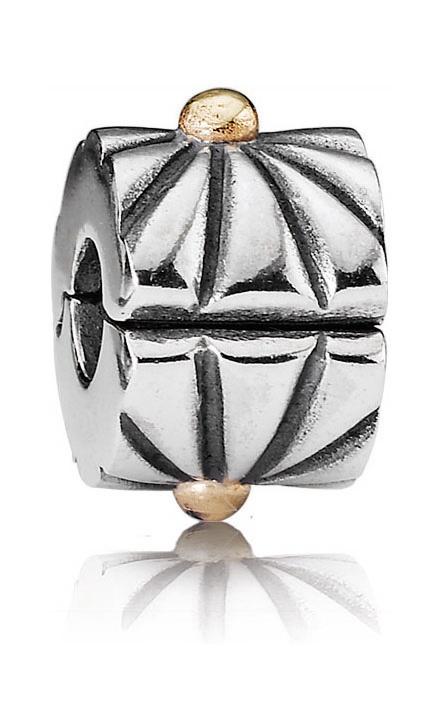 Pandora Gold Sunburst Clip