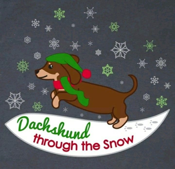 Christmas Dachshund Christmas Dachshund Sausage Dog