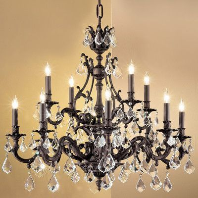 Classic Lighting Majestic 12 Light Crystal chandelier Crystal Type: Swarovski Spectra, Finish: French Gold