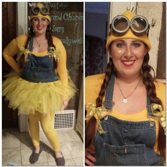 Minion Halloween costume with tutu