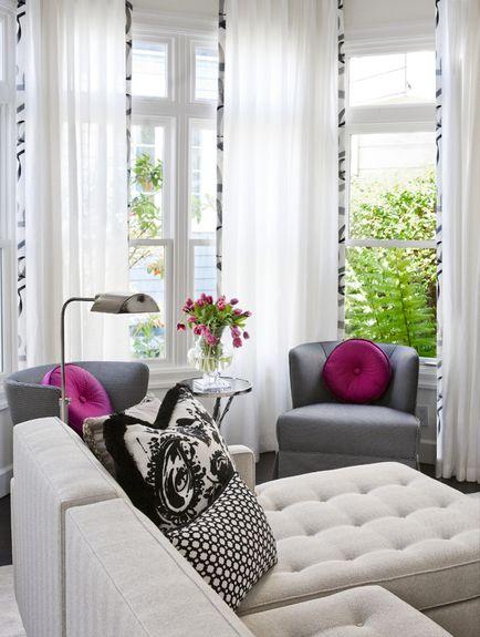 Delightful Black U0026 White Design With Magenta Accents. Faiella Design #blacku0026white