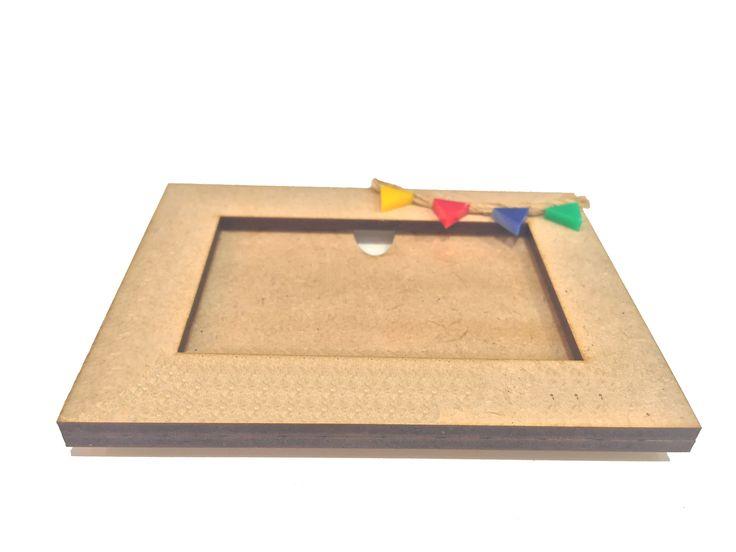 Portaretrato para niños I Kids frame #lasercut #kids # photo #design #elchangarromty