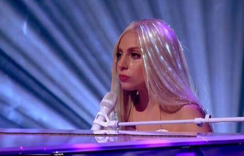 Lady Gaga being a mermaid
