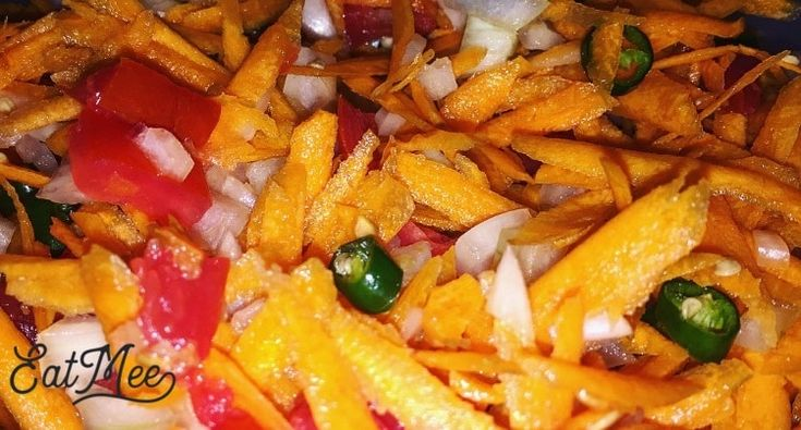 South African Carrot Salad is very common within the Indian community in South Africa. It is a simple salad with grated carrots & a few other ingredients & is served cold.