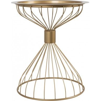 Zuiver Bijzettafel Kelly Tray - Goud #meubels #rond #designonline24 #bijzettafel #goud
