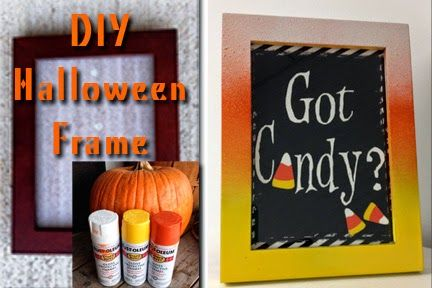 DIY ombre Halloween frame with free printable!