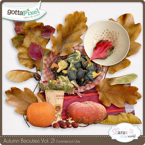 Autumn Beauties Vol. 21 :: Gotta Pixel Digital Scrapbook Store