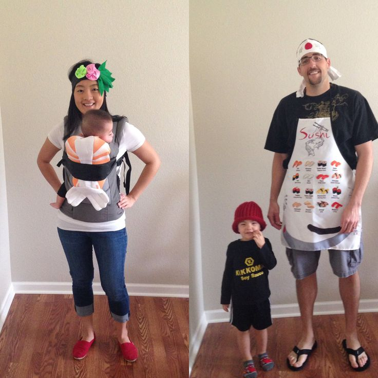 boo at the zoo sushi themed family costumes 2 - Family Halloween Costumes For 4