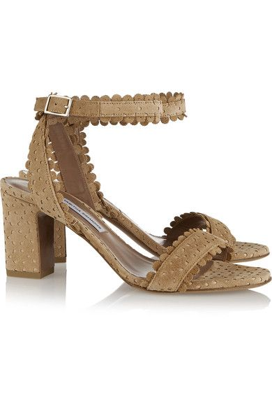 Tabitha Simmons - Leticia Perforated Suede Sandals - IT35.5