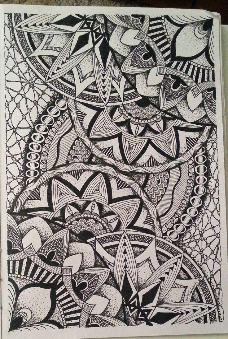 Zen Line Drawing : Best dibujos doodles zentagles mandalas etc