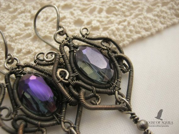 gothic jewelry victorian earring victorian blue by HouseofAquila