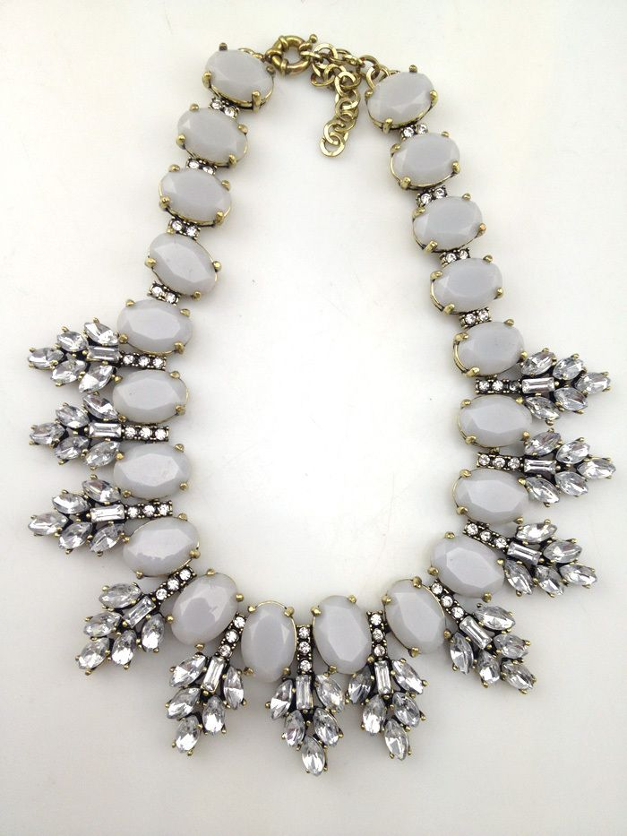 J.Crew Crystal Leaves Statement Necklace style in Classic Grey. $8 [must spend 10 for free shipping].