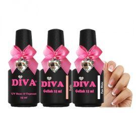 French Manicure Gellak Set Diva