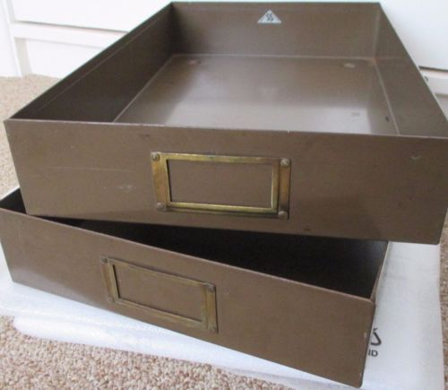 In-Out-Trays-Vintage-Steel-Qty-2-Document-approx-A4-size-Sankey-Steel-Sheldon