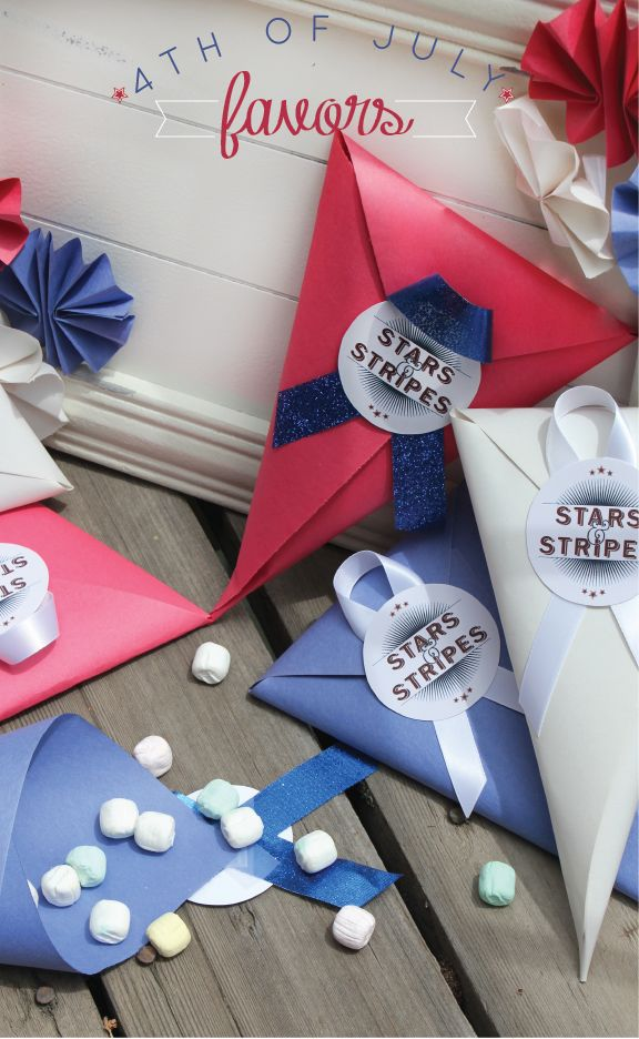 4th Of July Favor Cones These Are So Easy To Make And Such A