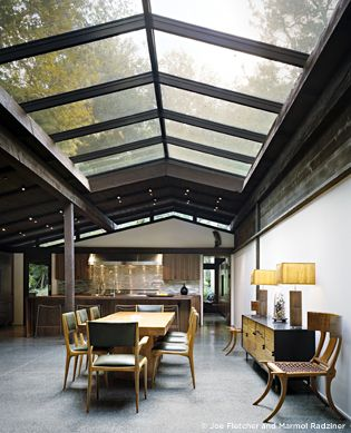 Marmol Radziner: Interior Design, Dining Room, Decor Ideas, House Ideas, Ranch House, Decorating Ideas, Ideas Spaces Rooms Atmospheres, Ceiling Skylights, Dream Houses