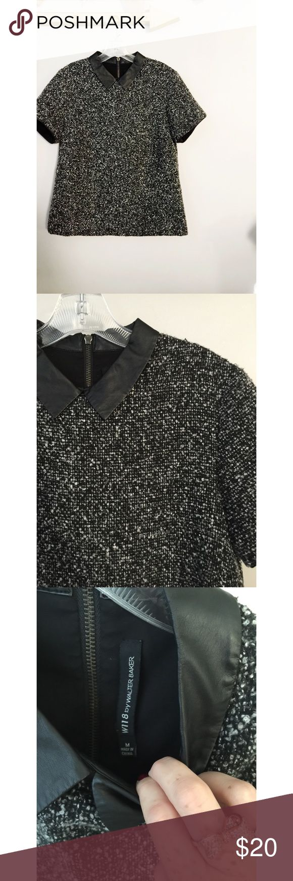 W118 by Walter Baker Top W118 by Walter Baker Top.  Great condition, heavy quality material.  Women's size medium.  Grey and black.  True to size. W118 by Walter Baker Tops Blouses