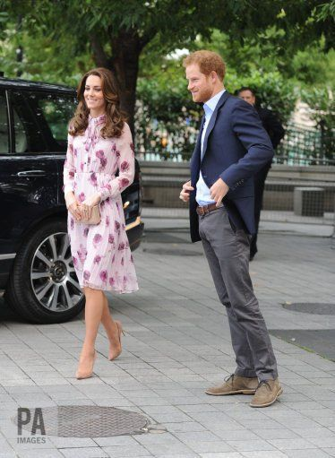 """PA Images on Twitter: """"The Duke & Duchess of Cambridge with Prince Harry arrive at County Hall, London #WorldMentalHealthDay  : Nick Ansell"""
