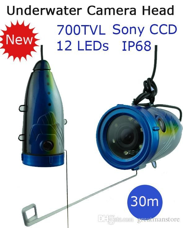 30/15m Cable Sony Ccd 700tvl Professional Underwater Fishing Camera Head For Fish Finder,Underwater Video Camera Fishing Equipment…