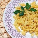 Spätzle,German noodle, German dish, recipe, spaetzle Colorado Denver Foodblog German recipes My Kitchen in the Rockies | A Denver, Colorado Food Blog